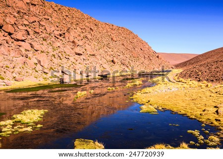 Amazing landscape of the Atacama desert in Chile - stock photo