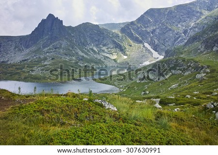 amazing Landscape of The Twin lake, The Seven Rila Lakes, Bulgaria