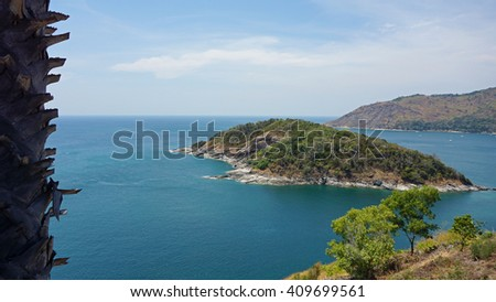 amazing landscape on viewpoint of phuket island