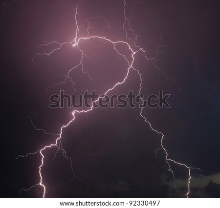 Amazing lightning - stock photo