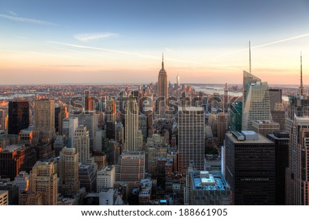 Amazing New York City Skyline - NYC - USA - stock photo
