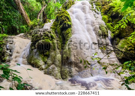 Amazing of Bua Tong Waterfall in Chiang Mai, Thailand. - stock photo