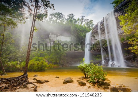 Amazing of Huai Luang Waterfall in Ubon Ratchathani, Thailand  - stock photo