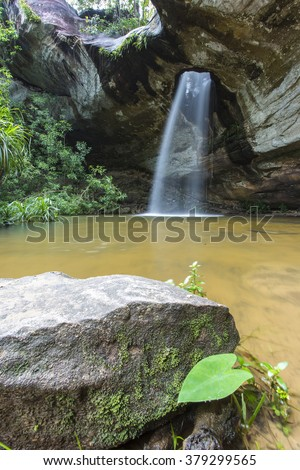 Amazing of moonlight Waterfall in Ubon Ratchathani, Thailand  - stock photo