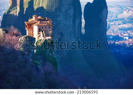 Amazing photo of the Holy Rousanou Monastery - stock photo