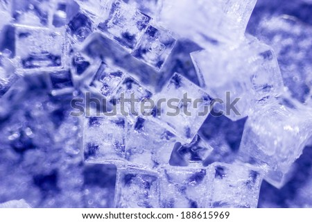 amazing salt crystals under the microscope - stock photo