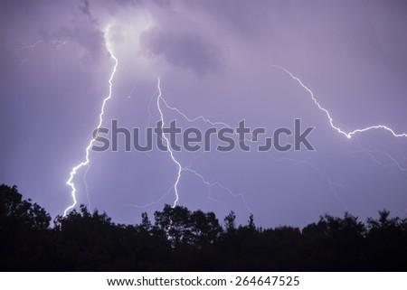 Amazing Storm - stock photo