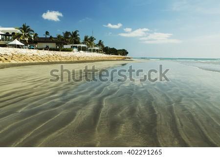 Amazing sunny beach Kuta in Indonesia - stock photo