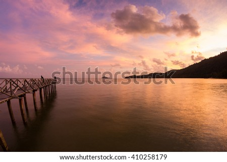 Amazing Sunrise and Sunset in George Town, Penang Malaysia