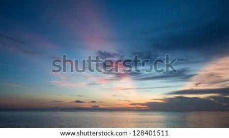 Amazing Sunrise n the sea - stock photo
