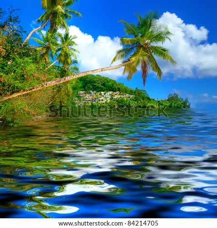 amazing tropical islands - stock photo