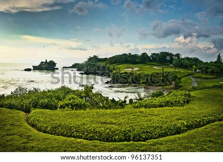 Amazing tropical landscape. Indonesia - Bali. - stock photo