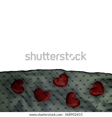 Amazing Valentine's background with red hearts. - stock photo