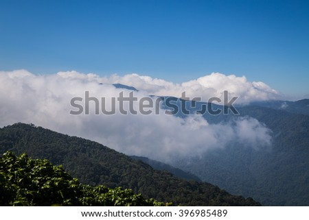 Amazing view mountain at south of thailand.