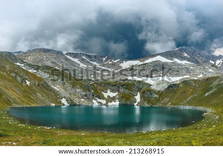 Amazing view of Aynali lake in national park Uludag, Turkey - stock photo