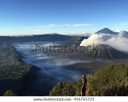 Amazing view of Bromo Mount in Indonesia