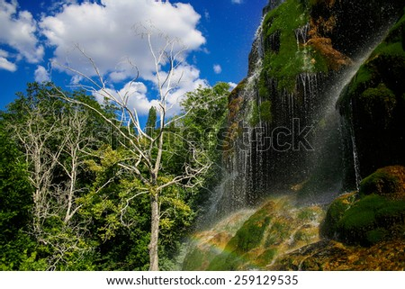 Amazing view of Guney Waterfall in Turkey  - stock photo