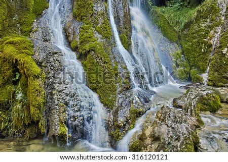 Amazing view of Krushuna Waterfalls, near the city of Lovech, Bulgaria - stock photo