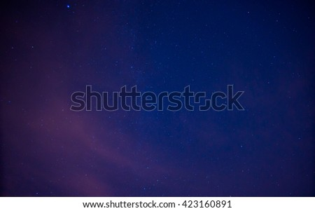Amazing view of night sky full of stars and milky way