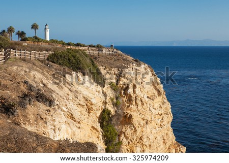 Amazing view of Point Vicente in Rancho Palos Verdes, Los Angeles, California. - stock photo