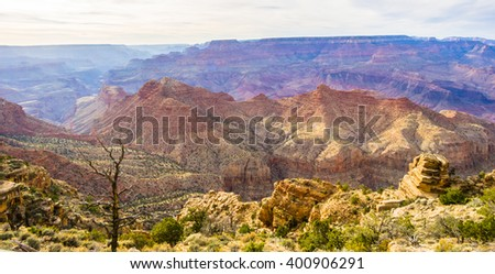 Amazing view of the grand canyon national park, Arizona. It is one of the most remarkable natural wonders in the world.