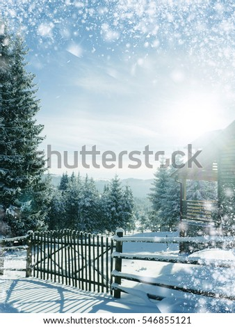 amazing winter wonderland background