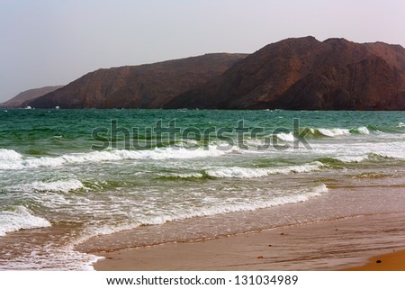 Amazingly beautiful Yiti beach near to Muscat, Oman