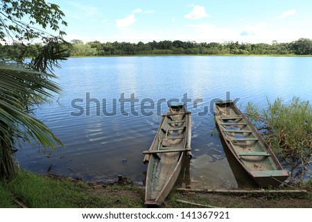 Amazon Lake - stock photo
