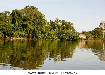 Amazon River, Peru - stock photo