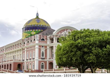 Amazon Theater in Manaus, Brazil - stock photo