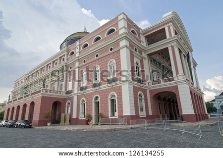 Amazonas Theater at Manaus, Brazil - stock photo