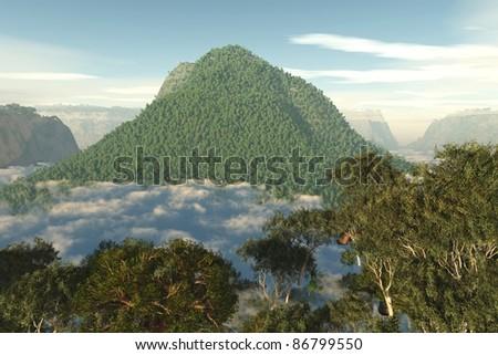 Amazonia Amazon 3D - stock photo