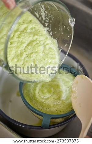 Ambarella juice or know as kedondong, taste a bit sour but refreshing - stock photo