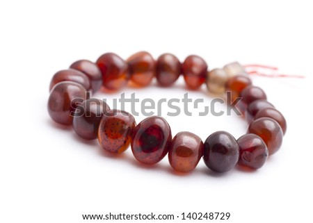 Amber bracelet - stock photo