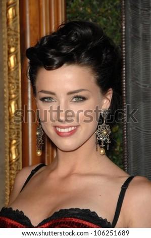 Amber Heard  at the 2nd Annual Art of Elysium Black Tie Charity Gala 'Heaven'. The Vibiana, Los Angeles, CA. 01-10-09 - stock photo