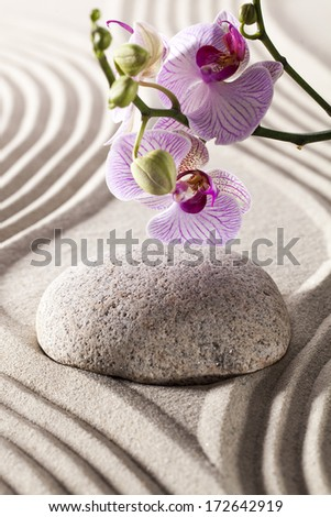 ambiance for spa and massage with zen design - stock photo
