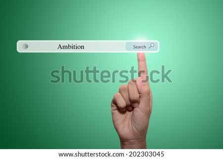 Ambition concept  - stock photo