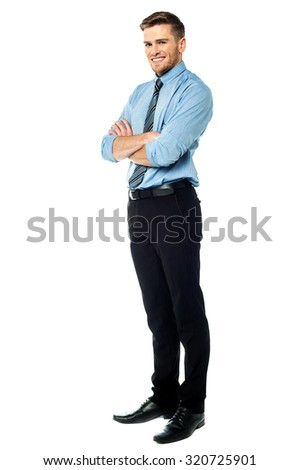 Ambitious entrepreneur, full length shot. - stock photo