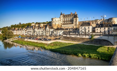 Amboise Chateau. The Loire Valley. France. - stock photo
