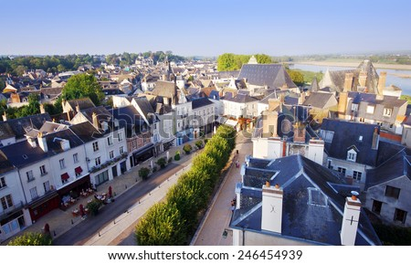 Amboise medieval village in center of France - stock photo