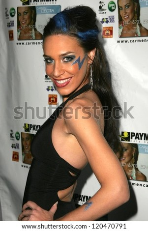 Ambria Miscia at the launch party for the Carmen Electra PrePaid MasterCard and the Carmen Electra Gift MasterCard. The Red Pearl Kitchen, Los Angeles, CA. 10-25-06 - stock photo