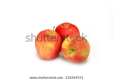 ambrosia apples isolated on white background.