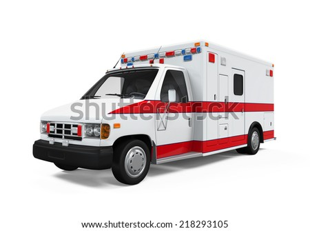 Ambulance Car - stock photo