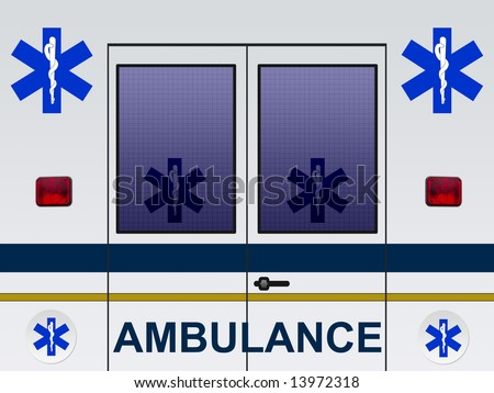 Ambulance car illustration - stock photo