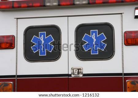 ambulance detail - stock photo