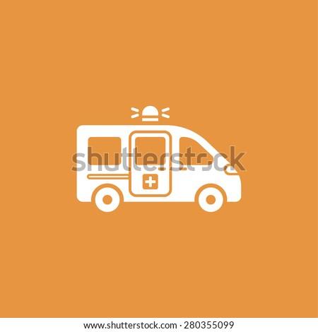 ambulance icon - stock photo