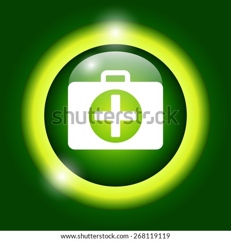 ambulanse icon - icon. Flat illustrator  - stock photo