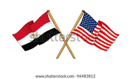 America and Egypt alliance and friendship