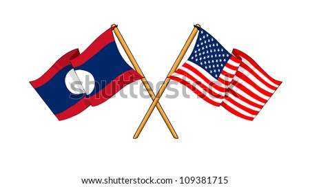 America and Laos alliance and friendship