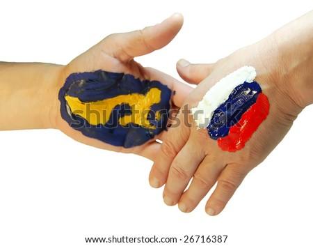 America and Russia - stock photo